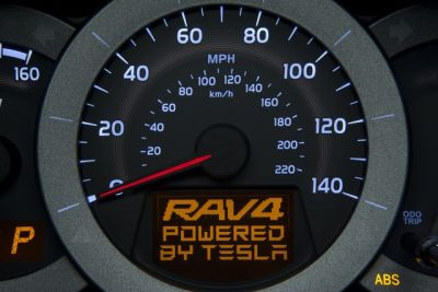 Salone di Los Angeles Tesla - Toyota RAV4 EV
