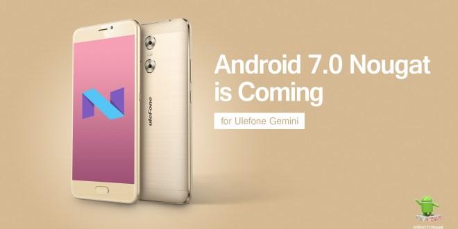 Ulefone Gemini riceverà l'aggiornamento ad Android 7