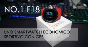 NO.1 F18, lo smartwatch sportivo con GPS