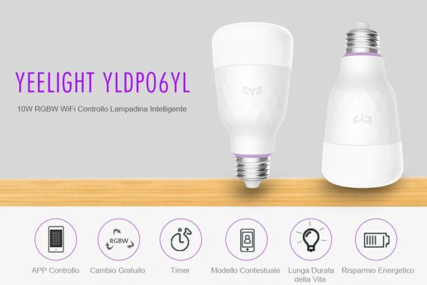 YEELIGHT 10W RGB E27 Lampadina Intelligente