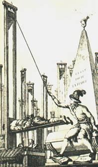 guillotine ilustracion grabado guillotina