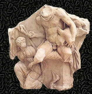 telefo-mitologia griega grabado