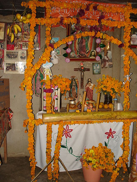 altar dia muertos mexico