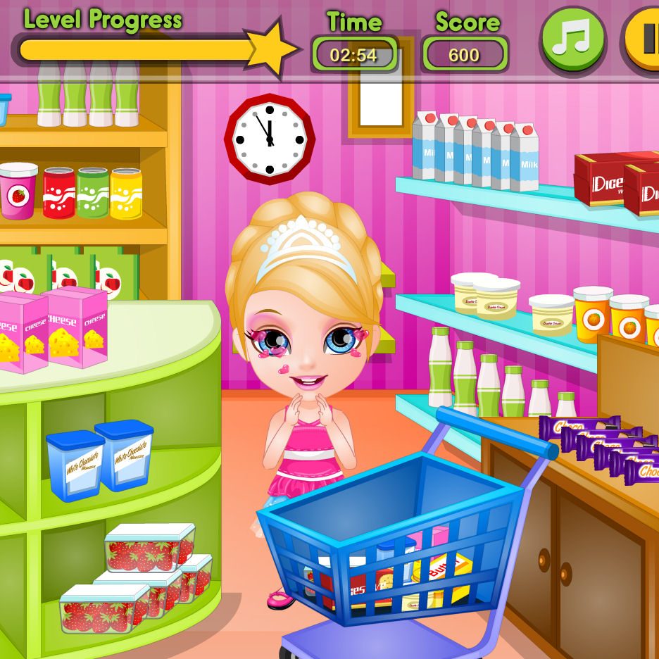Juego de comprar con Barbie para hacer tarta  Juegos