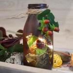 DIY Herbst Windlichter aus Glas