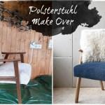 Alter Polsterstuhl im neuen Look – Polster mit Kreidefarben färben