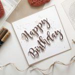 Eine Karte zum Geburtstag – Ausmalen mit Linieneffekten