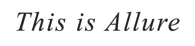 This is Allure blog logo