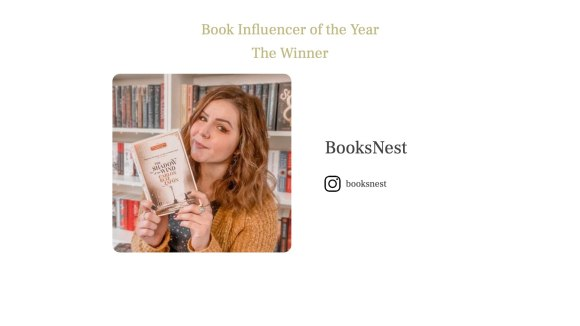 Book Influencer of the Year 2021