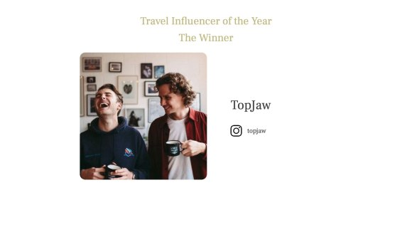 Travel Influencer of the Year 2021