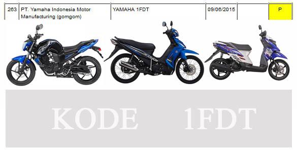 Motor baru Yamaha kode 1FDT