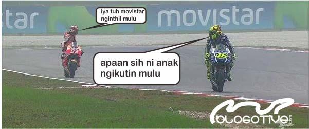 Meme MotoGP Rossi diikuti Marc Marquez