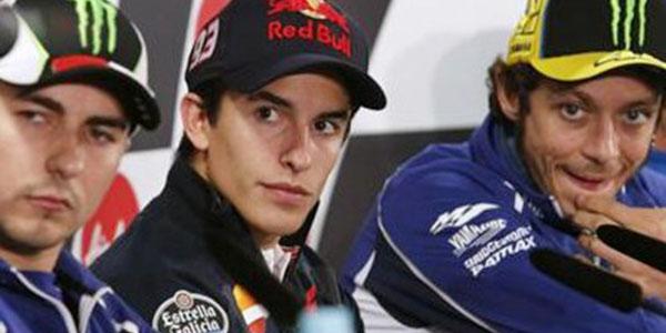 Lorenzo, Marquez, Rossi