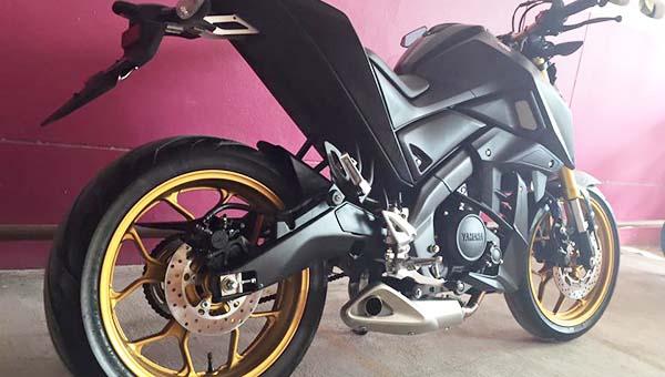 Modifikasi Yamaha Xabre 150 pakai Knalpot Underbelly