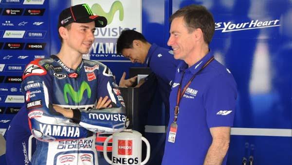 Lin Jarvis bersama Jorge Lorenzo