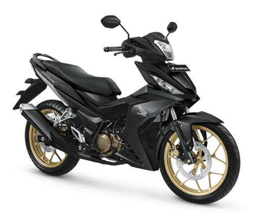 Pilihan Warna Honda Supra GTR 150 Exclusive warna Gun Black