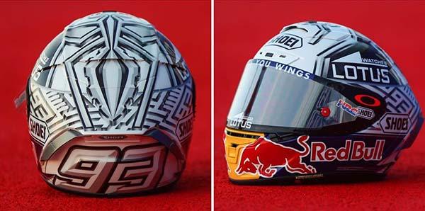 Helm Spesial Marquez di Sirkuit Misano