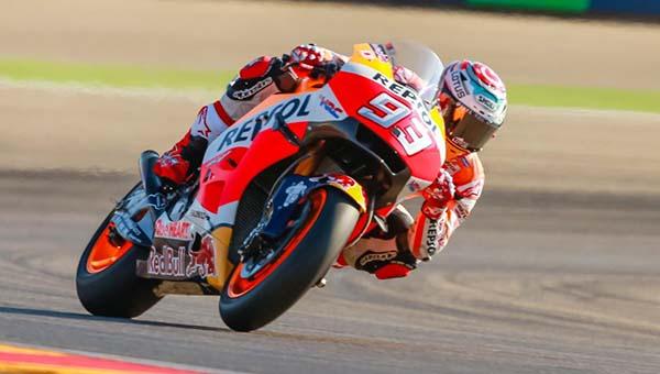 Marc Marquez tercepat di MotoGP Aragon