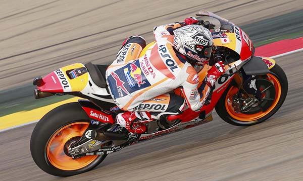 Para Pembalap Honda tercepat di latihan bebas MotoGP Aragon
