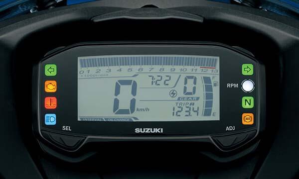 Fitur Suzuki GSX, Speedometer Digital