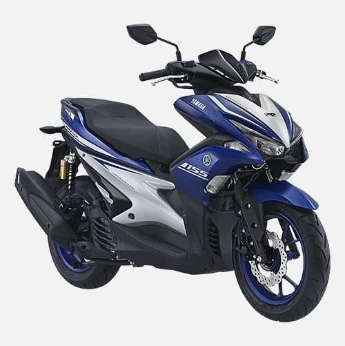 Pilihan Warna Yamaha Aerox 155 warna Racing Blue
