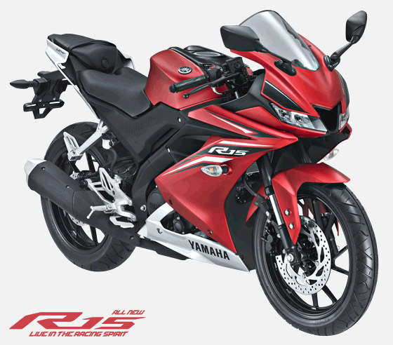 All New R15 2017 warna Merah Doff