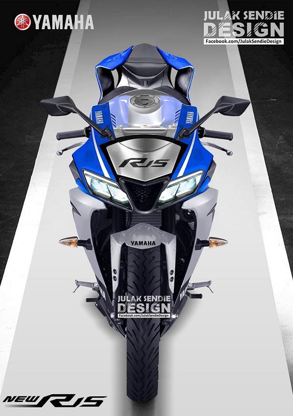 Render New Yamaha R15 2017 tampak depan
