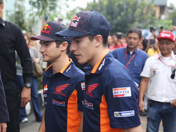 Marc Marquez dan Dani Pedrosa di Indonesia