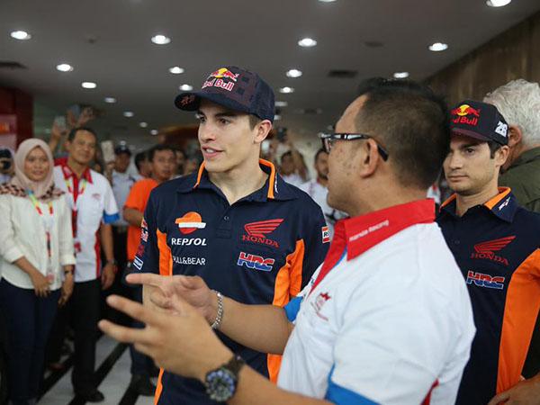 Marquez dan Dani di dealer Honda