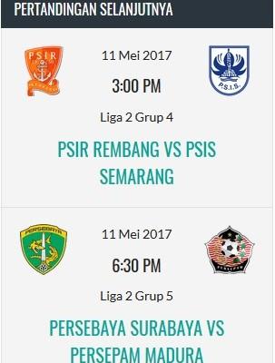 Pertandingan di Liga1-indonesia.com