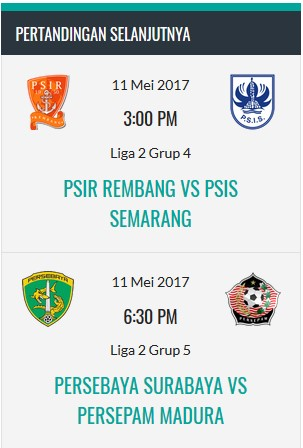 Pertandingan di Liga1-indonesia.com