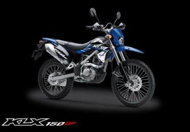 Kawasaki KLX 150BF Special Edition warna Biru