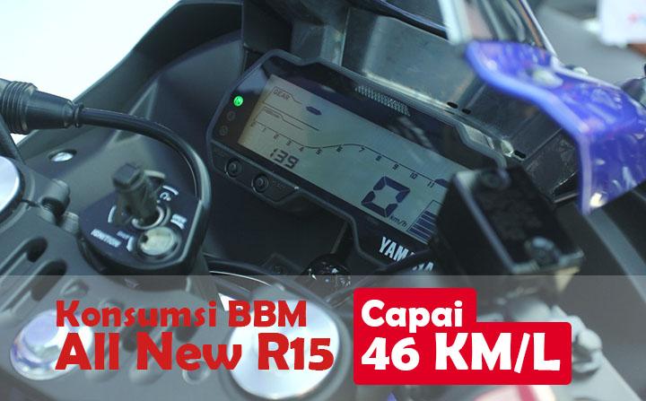 Konsumsi BBM All New R15 capai Irit 46 Kmpl
