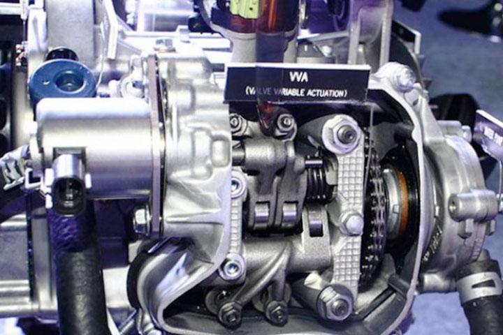 Mesin SOHC Yamaha dengan VVA