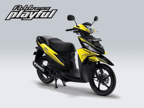 Pilihan Warna Suzuki Address Playful warna Aura Yellow