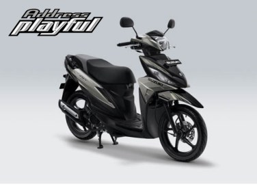Pilihan Warna Suzuki Address Playful warna Ice Silver