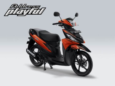 Pilihan Warna Suzuki Address Playful warna Luminous Orange