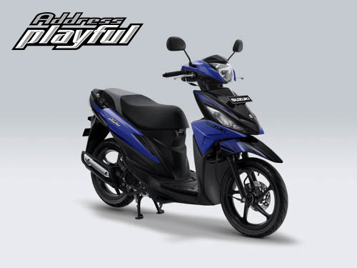 Pilihan Warna Suzuki Address Playful warna Macho Bright Blue