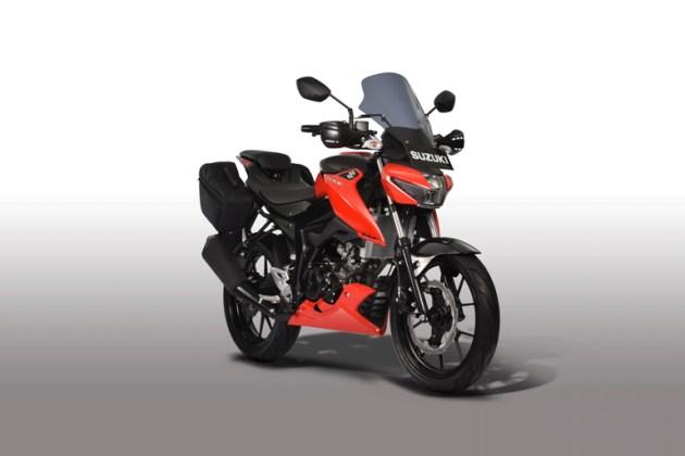 Suzuki GSX-S150 Touring Edition warna Stronger Red Titan Black