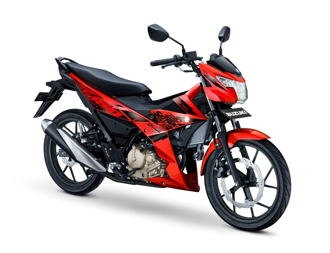 All New Satria F150 Warna Stronger Red Gambar HD