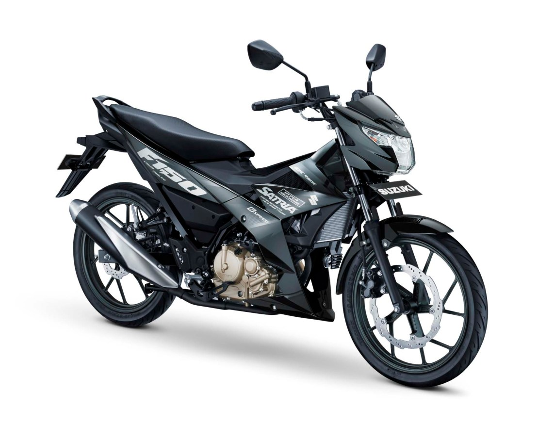All New Satria F150 Warna Titan Black Gambar HD
