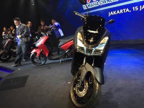 Yamaha Lexi tampak depan