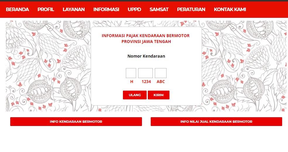 Cara Cek Pajak Motor Online di Jawa Tengah