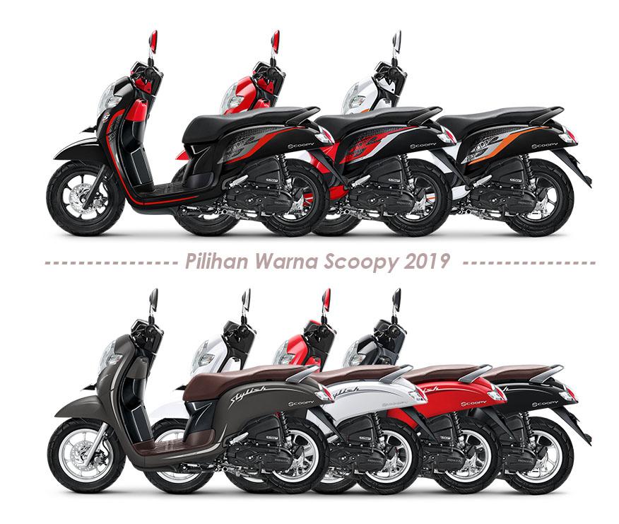 Pilihan Warna Honda Scoopy 2019