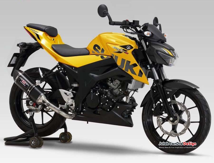 Ada Warna Baru Suzuki Gsx S150 2018 Kuning Dan Sudah Keyless