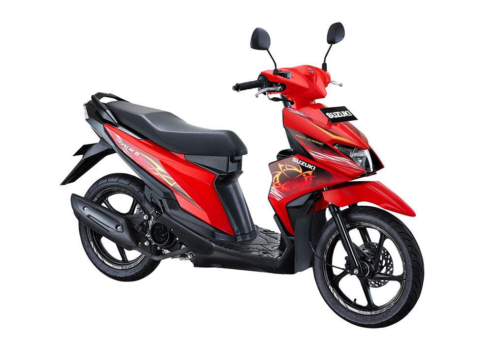 Warna Suzuki NEX II Fancy Dynamic Stronger Red