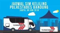 Jadwal SIM Keliling Polrestabes Bandung, Sabtu 30 Juni 2018