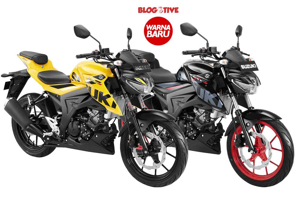 4 Pilihan Warna Gsx S150 Warna Baru Kuning Dan Velg Merah Blogotive