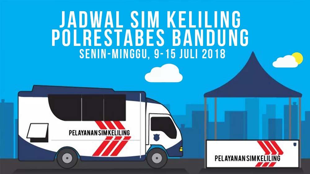 Jadwal SIM Keliling Bandung 9-15 Juli 2018