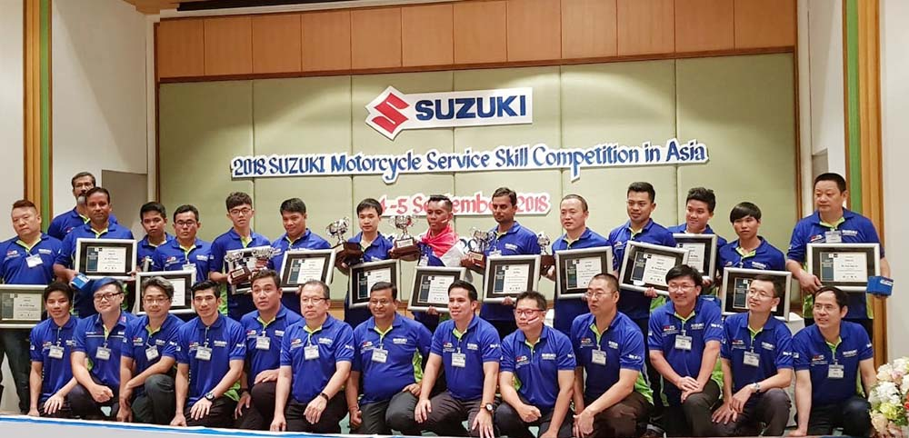 2018 Suzuki Motorcycle Service Skill Competition in Asia